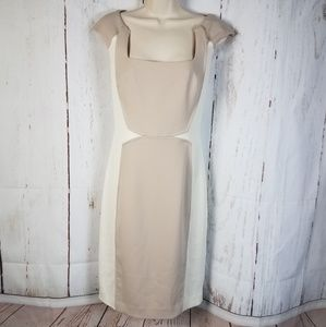 Jay Godfrey 4 Two Tone Cap Sleeve Dress